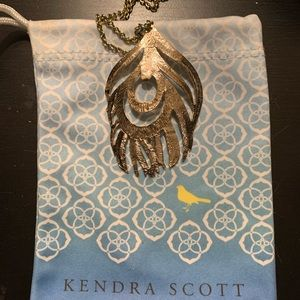 Kendra Scott gold feather necklace